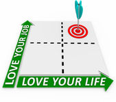 Career and Life Matrix - Arrow and Target — Stock Photo