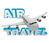 Air Travel - Airplane Flight for Vacation or Business — Stock Photo