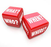 Roll the Dice - Questions and Answers — Stock Photo