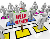 Help Wanted - Get a Job in Open Position — Stock Photo