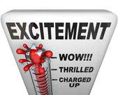 Termômetro - antecipação de alto nível de excitação — Foto Stock