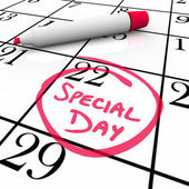 Calendar - Special Day Circled for Anticipated Date — Stock Photo
