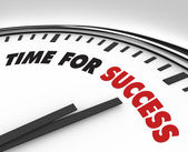 Tiempo para el éxito - reloj logros y metas — Foto de Stock