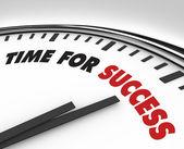 Tijd voor succes - klok prestatie en doelstellingen — Stockfoto