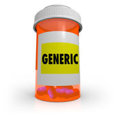 Generic Prescription Bottle - No Name Brand Medicine — Stock Photo