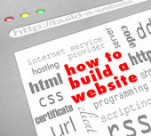 How to Build a Website - Web Screen — Stock Photo