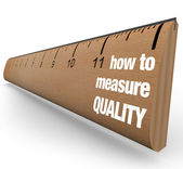 Ruler - How to Measure Quality Improvement Process — Stock Photo
