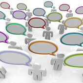 Large Group of Talking - Speech Bubbles — Stock Photo