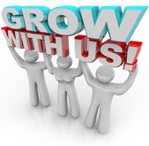 Grow With Us - Join a Group for Personal Growth — Stock Photo