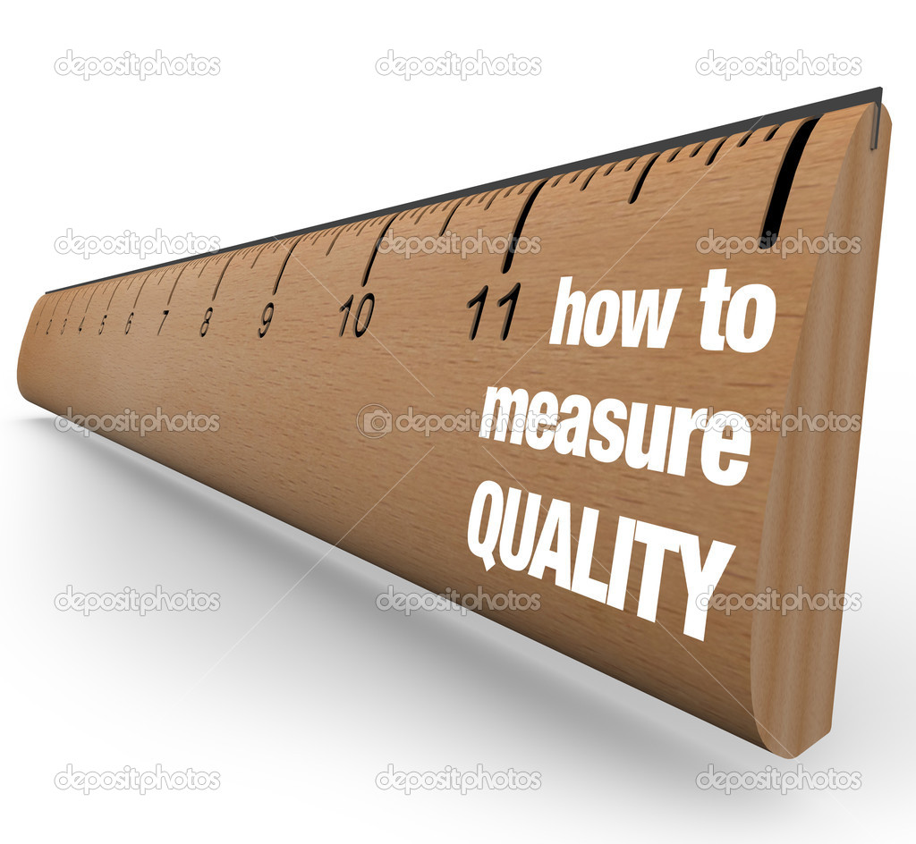 A wooden ruler with the words How to Measure Quality, offering guidance on measuring results of process improvement and other means of fostering a betterment of  Stock Photo #5777794
