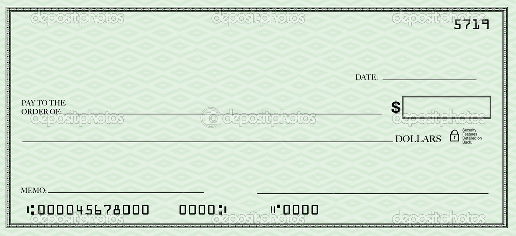 A blank check design with open spacing for you to place your own words — Foto de Stock   #5777799