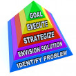 Create Plan to Achieve Goal and Success - Pyramid — Stockfoto