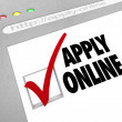 Apply Online - Web Screen - Fill Out Application on Website - Stock Photo