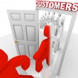 Converting Prospects to Customers - Sales Doorway — Stock Photo #5999335