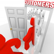Converting Prospects to Customers - Sales Doorway - Stock Photo