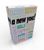 A New You - Product Box Selling Instant Self-Help Improvement — Stock Photo