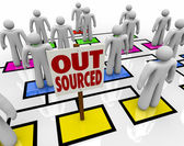 Outsourced - Position Eliminated on Organizational Chart — Stock Photo