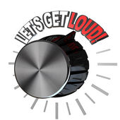 Let's Get Loud Volume Knob Turned to Highest Level — Stock Photo