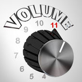 This One Goes to 11 - Volume Dial Knob Turned to Max — Stock Photo