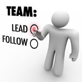 Choose to Lead Team or Follow - Man with Aspirations — Stock Photo