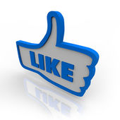Thumb Up Symbol Icon for Like Review — Stock Photo