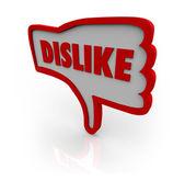 Dislike Thumb Down Hand Icon Shows Displeasure — Stock Photo