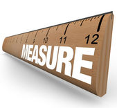 Ruler - Measure Word with Measurements on Stick — Stock Photo