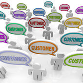 Customers - Large Group of Talking — Stock Photo