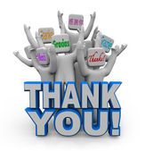 Thank You in Different International Languages — Stock Photo