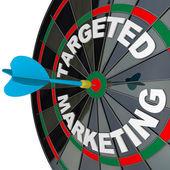 Dart en dartbord gerichte marketing succesvolle campagne — Stockfoto