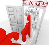 Converting Prospects to Customers - Sales Doorway — Stock Photo