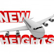 New Heights - Airplane Cimbs Higher to Reach Goal — Stock Photo