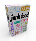 Junk Food Box - Bad Nutritional Choices for Your Diet — Zdjęcie stockowe