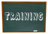 Training Word on Chalkboard - Get Trained in New Skills — Stock Photo