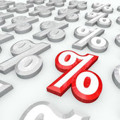 Percent Symbols - Best Percentage Growth or Interest Rate — Stock Photo