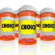 Stock Photo: Choice - Choose from Many Prescription Bottles