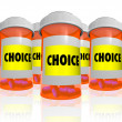 Choice - Choose from Many Prescription Bottles — Stock Photo