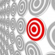 One Red Bulls-Eye Target - Niche Market Audience - Stock Photo