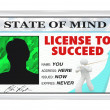 Stockfoto: License to Succeed - Permission for Successful Life