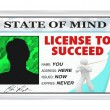 License to Succeed - Permission for a Successful Life — Stock Photo