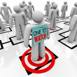 One to Watch Marked Person in Organizational Chart - Stockfoto