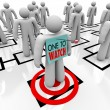 One to Watch Marked Person in Organizational Chart — Stock Photo #6270091