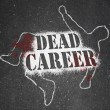 Dead Career - Chalk Outline of Obsolete or Demoted Position — Foto de Stock