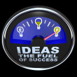 Ideas are the Fuel of Success Gauge Measuring Idea Supply - Stock Photo