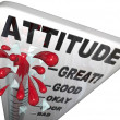 Attitude Measuring on Thermometer Positivity for Success - Stock Photo
