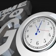 Royalty-Free Stock Photo: Time to Go 3D Words Clock Counting Down Moment to Start