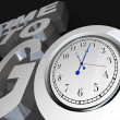 Stock Photo: Time to Go 3D Words Clock Counting Down Moment to Start