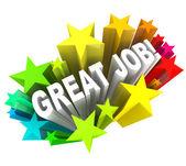 Tof job woorden prees een succesvolle doel bereikt — Stockfoto