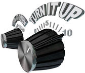 Turn It Up - Dial Knob Turning Up to Max Volume Level — Foto Stock