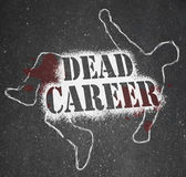 Dead Career - Chalk Outline of Obsolete or Demoted Position — Stock Photo